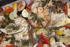 Vegetais cozidos forno do verão Fotografia de Stock Royalty Free