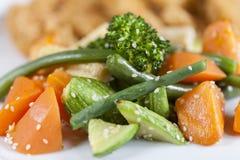 Vegetais cozinhados fotografia de stock