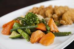 Vegetais cozinhados foto de stock royalty free