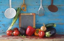 Vegetais, cozinhando o alimento saudável Fotografia de Stock Royalty Free