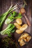 Vegetais crus com especiarias Imagem de Stock