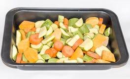 Vegetais crus cortados Fotografia de Stock