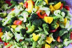 Vegetais crus desbastados Fotografia de Stock