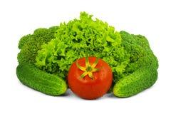 Vegetais crus Low-calorie imagem de stock