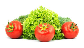 Vegetais crus Low-calorie fotografia de stock