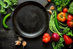 Vegetais da estação que cozinham o conceito Imagens de Stock
