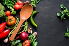 Vegetais da estação que cozinham o conceito Fotos de Stock