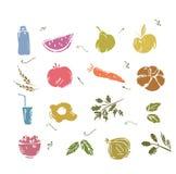 Vegetais da garatuja e alimento saudável Foto de Stock Royalty Free