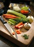Vegetais da placa de estaca - trajeto de grampeamento Imagem de Stock