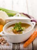 Vegetais da sopa com ingredientes Imagem de Stock Royalty Free