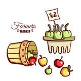 Vegetais das maçãs do mercado dos fazendeiros Fotografia de Stock Royalty Free