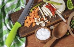 Vegetais de Chohhed Imagem de Stock