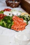 Vegetais de Frash na bandeja Imagens de Stock