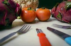 Vegetais de fruto do dragão da couve dos tomates Imagens de Stock Royalty Free