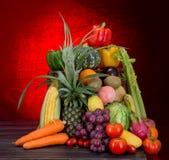 Vegetais de frutos misturados Fotos de Stock Royalty Free