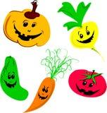Vegetais de Halloween Ilustração do Vetor