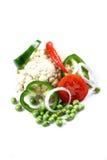Vegetais de salada frescos Fotografia de Stock