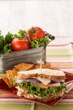 Vegetais de Turquia Ham Healthy Lunch Sandwich With Fotografia de Stock Royalty Free