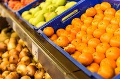 Vegetais dentro da mercearia Fotos de Stock
