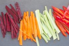 Vegetais desbastados crus Imagem de Stock