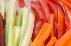 Vegetais desbastados crus Fotografia de Stock
