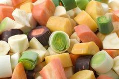 Vegetais desbastados da sopa Imagem de Stock