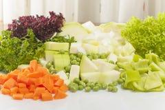 Vegetais desbastados para a sopa Fotos de Stock