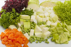 Vegetais desbastados para a sopa Imagens de Stock Royalty Free