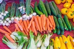 Vegetais diferentes em um mercado Imagem de Stock Royalty Free