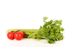 Vegetais do aipo do tomate Fotografia de Stock Royalty Free