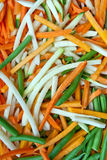 Vegetais do Julienne Imagem de Stock