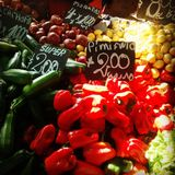 Vegetais do mercado do Chile Imagem de Stock Royalty Free