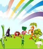 Vegetais do tema Imagens de Stock