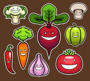 Vegetais dos desenhos animados Foto de Stock Royalty Free