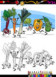 Vegetais dos desenhos animados para o livro para colorir Imagens de Stock Royalty Free