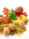 Vegetais e alimento fresco Imagens de Stock