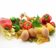 Vegetais e alimento fresco Fotografia de Stock Royalty Free