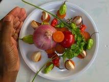 Vegetais e arte culinária Fotos de Stock