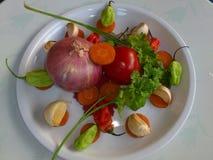 Vegetais e arte culinária Imagens de Stock