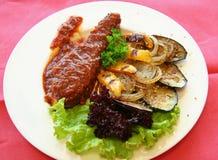 Vegetais e carne Imagem de Stock Royalty Free