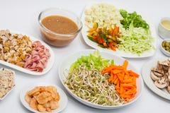 Vegetais e carnes desbastados Fotos de Stock Royalty Free
