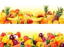 Vegetais e composição da fruta Fotografia de Stock Royalty Free
