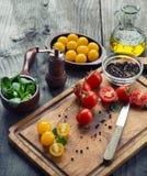 Vegetais e especiarias imagens de stock