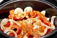 Vegetais e especiarias para cozinhar Imagem de Stock Royalty Free