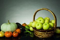 Vegetais e fruta Fotografia de Stock