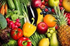 Vegetais e fruta Imagens de Stock