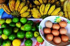 Vegetais e fruta Foto de Stock