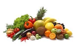 Vegetais e frutas Imagens de Stock