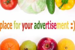Vegetais e frutas Imagem de Stock Royalty Free