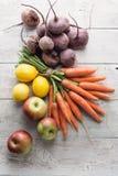 Vegetais e frutas Fotos de Stock